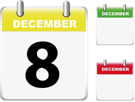 Set of calendars Stock Vector - 12402672