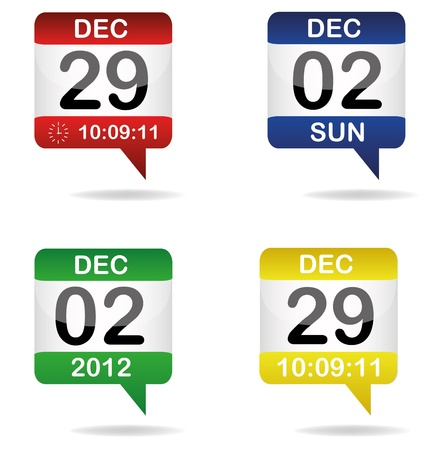 set of calendars Vector
