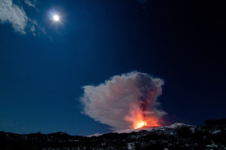 etna eruption photo