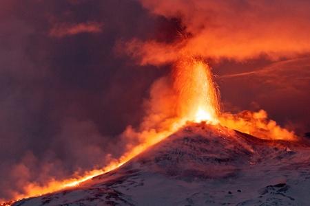 uitbarsting: Etna uitbarsting