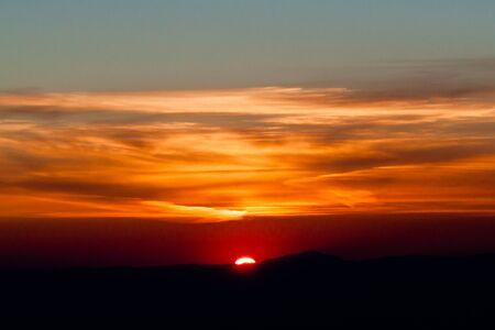 vulcano: sunrise on sicily Stock Photo