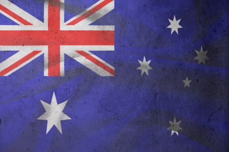 A Vintage Flag of Australia  photo