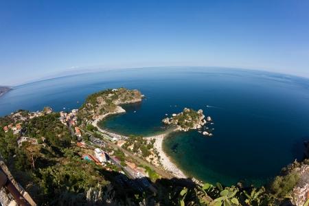 bella: Isola bella, a small island near Taormina, Sicily Stock Photo