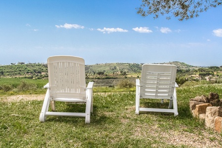 two chairs: Two Chairs on Sicily view