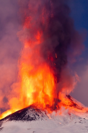 etna eruption photo