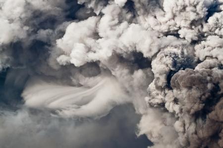 etna eruption smoke Stock Photo - 14310359