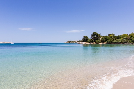 beautiful coast on the Blue Sea, siracusa, sicily, italy Stock Photo