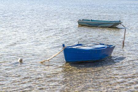 Boats on the lake photo