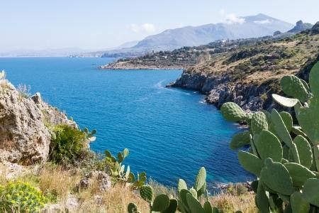 Reserva Natural dello Z�ngaro, Sicilia, Italia Foto de archivo