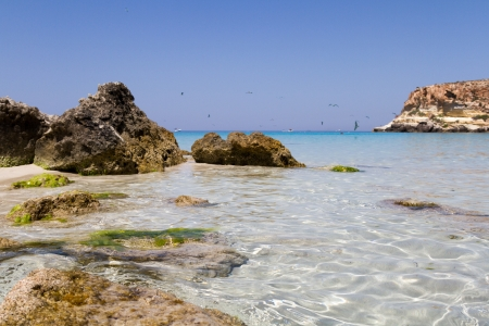 view of Lampedusa, Sicily