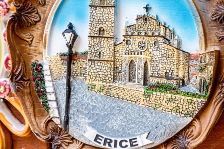 Closeup of a traditional sicilian pottery