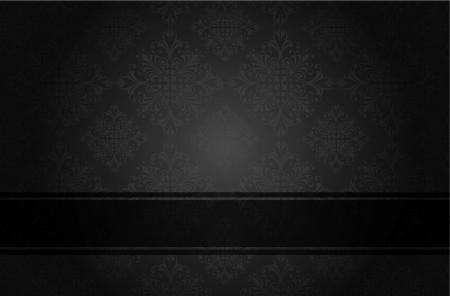 Lujo floral portada del libro negro