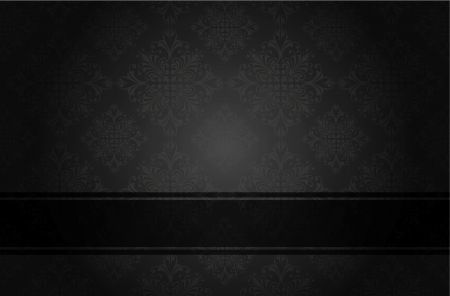 Luxury floral black book cover   Illustration