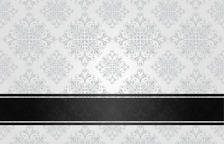 Luxury floral black book cover  Vector