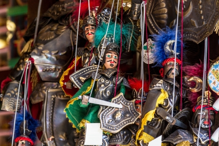 Italy, Sicily, Erice (Trapani), sicilian puppet for sale Editorial