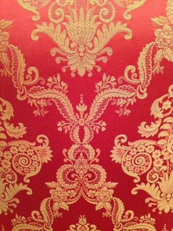 eg: Red floreal backdrop