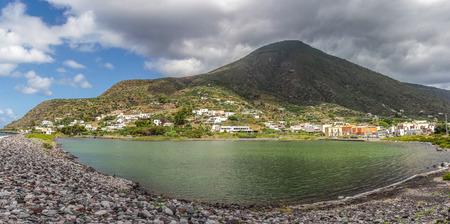 salina: Salina lake, Aeolian Island - Sicily, Italy