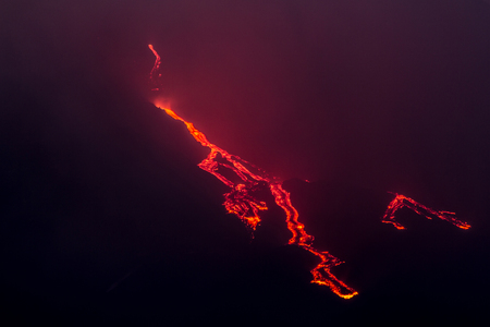 More explosions in the night and lava flow
