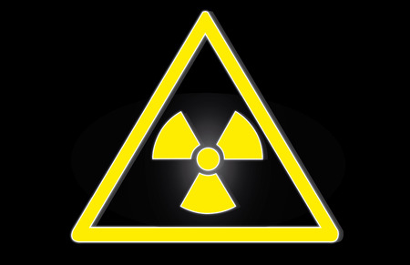 rentgen: Radiation hazard symbol sign of radhaz threat alert icon