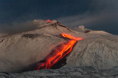 Erupci�n del volc�n Etna