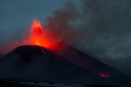 sicily: Eruption of Mount Etna in Sicily, Italy