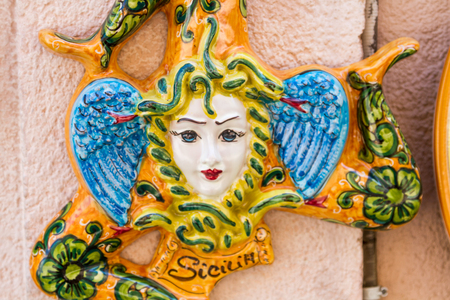 sicily: Trinacria, symbol of Sicily Stock Photo