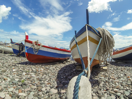 aeolian: Boats on port of Salina, Sicily