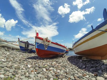 salina: Boats on port of Salina, Sicily