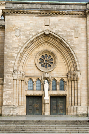 notre dame: Notre Dame cathedral in Grand Duchy of Luxembourg Stock Photo