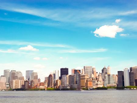 Boston City Skyline Stock Photo