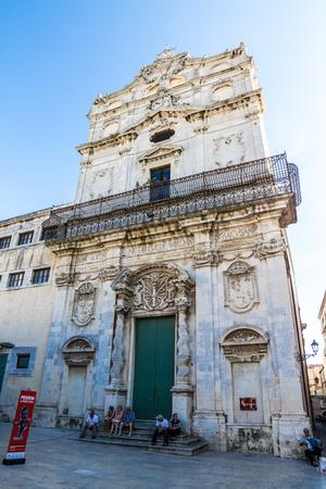siracuse: Church of Saint Lucia in Siracuse, island of Ortigia