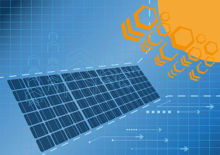 Solar cell power plant generate electricity from sun light