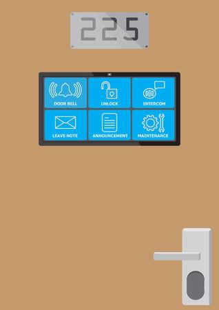 Screen show icon on the room\'s door