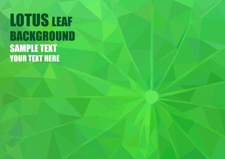Origami style lotus leaf background polygon