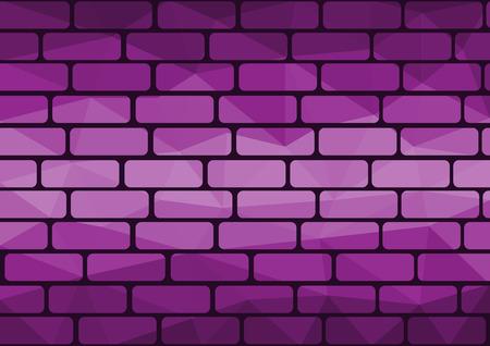 Polygon brick purple background origami style