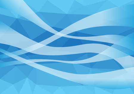 Wind blown in blue background abstract style