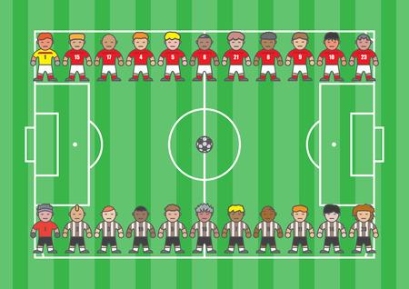 フラット スタイルのサッカー選手漫画サッカー選手 写真素材 - 38964265
