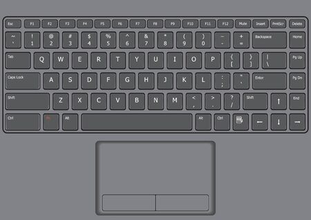 Laptop key board US layout and touchpad