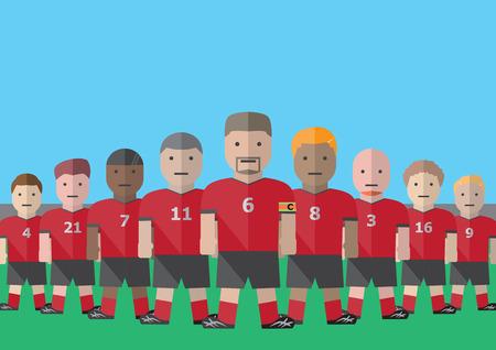 ベクトル サッカーのキャプテンとチーム グラフィック フラット 写真素材 - 39390332