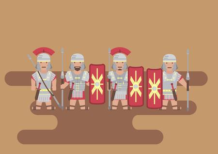 Vector Roman legion soldier flat graphic
