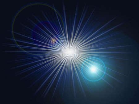 artefact: Flash star with flare artefact Stock Photo