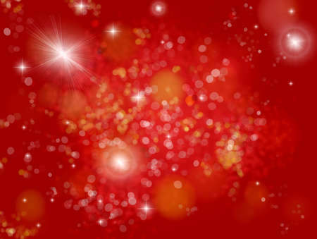 Red background with Flash stars and dots reflections photo