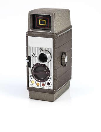 vintage video camera on white background. Stock Photo - 18446593