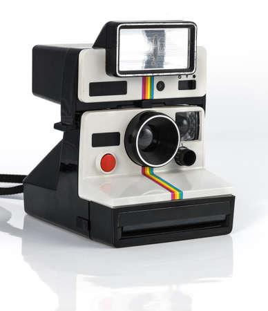 Vintage camera polaroid style on white background Stock Photo - 18446565