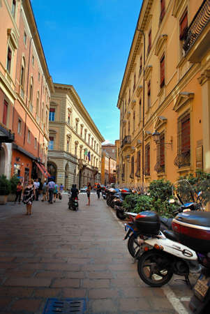 Bologna, Italy - July 10, 2013: Walking on the streets of Italy