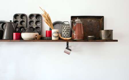 Aachen Germany - 04.10.2018: kitchen utensils on white background overlook shot
