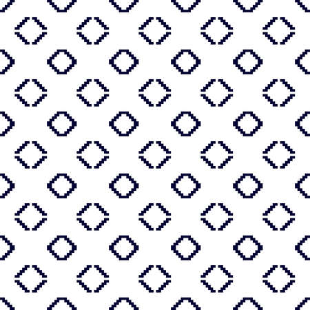 mounting: Seamless texture. Pixel graphics. Various versions of the squares on the location of the mounting area.  Image. For web design, presentations, textile and light industry. Dark blue and white color