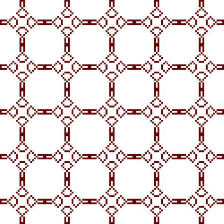 mounting: Seamless texture. Pixel graphics. Various versions of the squares on the location of the mounting area.  Image. For web design, presentations, textile and light industry. Brown and white color