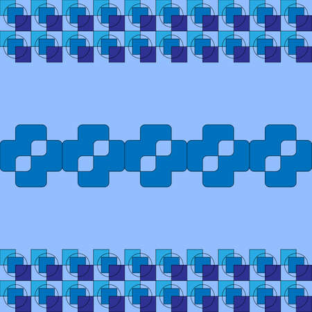 Abstract image of different shades of blue squares. solution for wallpaper, backgrounds, presentations. Illustration