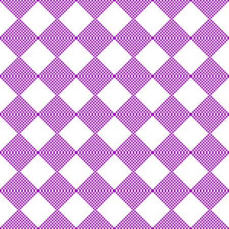 diagonal stripes: Seamless pattern. Pixel geometry. The abstract  image. It can be used for web design, background image, wallpaper wall. Purple color